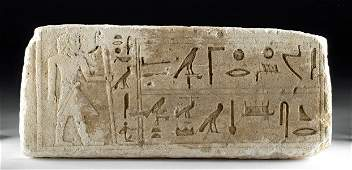 Translated Egyptian Limestone Panel for Kai the Younger