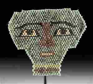 Egyptian Glazed Faience Bead Mask