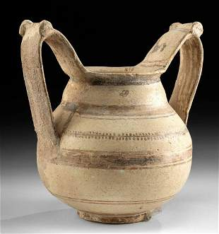 Ancient Greek Messapian Terracotta Trozella