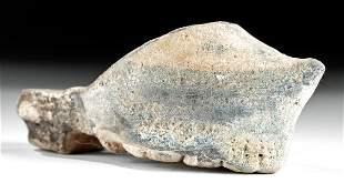 Rare 14th C. Islamic Mamluk Glazed Pottery Shoe