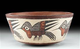 Nazca Polychrome Bowl w/ Hummingbirds
