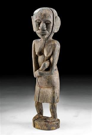 Early 20th C. Dayak Wood Hampatong Figure