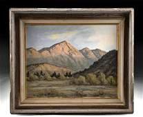 Framed Mid 20th C. Bill Freeman Landscape Painting