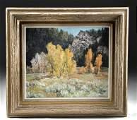 Framed Mid 20th C. Bill Freeman Autumnal Landscape