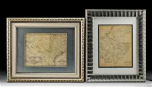 19th C. American Maps of Ohio and Texas