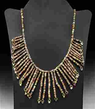 Wearable Egyptian Faience Bead Necklace