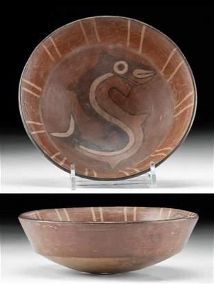 Charming Nazca Polychrome Bowl w/ Shark