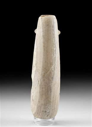Lovely Cypriot Banded Alabaster Alabastron