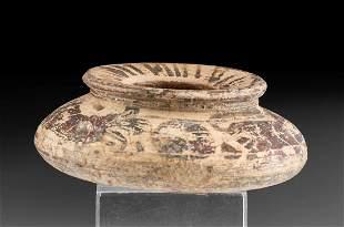 Squat Greek Corinthian Polychrome Jarlet