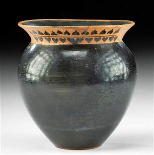 Greek Attic Pottery Mastoid Cup