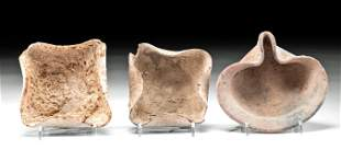 3 Lovely Holyland Pottery Oil Lamps