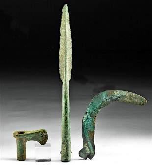 Lot of 3 Luristan / European Bronze Weapons