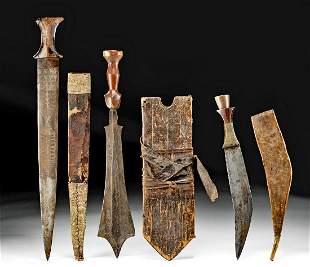 Three 19th C. Islamic / African Iron & Wood Weapons