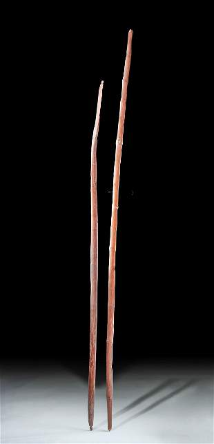 Early 20th C. Native American Wood Bows (pr)