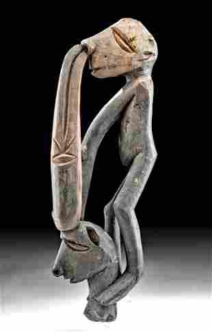 20th C. Indonesian Asmat Wood Ancestor Figures
