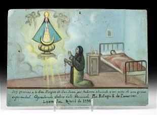 Mexican Tin Ex-Voto to the Virgin of San Juan, 1938