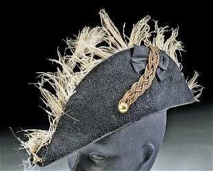 World War I German Cloth, Fur, & Feather Diplomat's Hat