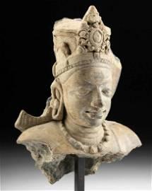 Indian Kushan Fragment of Vishnu Bust