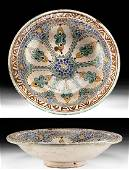 19th C. Moorish Talavera Pottery Bowl, ex-Museum