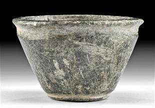 Egyptian Predynastic Naqada II Schist Bowl
