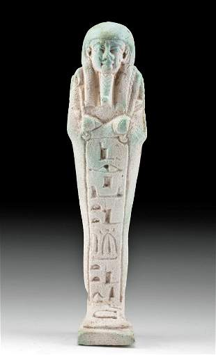 Translated Egyptian Faience Ushabti for Pa-Di-Aset