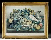 Framed Currier & Ives - American Choice Fruits, 1869