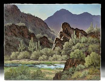 Suzanne Nyberg Painting - Desert Landscape - 2000s
