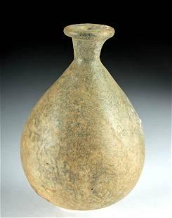 Roman Glass Unguentarium w/ Constricted Spout