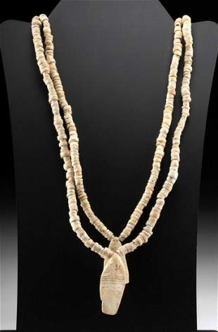 Necklace w/ Pre-Columbian Nazca Shell Beads