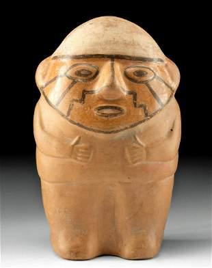 Huari Pottery Standing Figure w/ Face Paint