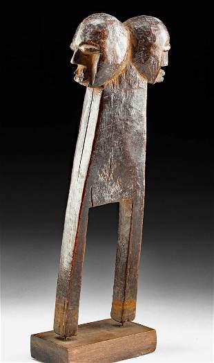Early 20th C. Lobi Wood Figural Slingshot Handle