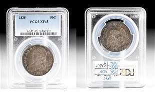 1825 USA Silver / Copper 50 Cent Piece