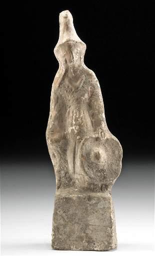 Greek Canosan Terracotta Votive Figure Warrior, TL'd