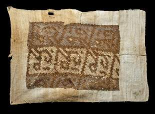 Chancay Textile Panel w/ Open Weave