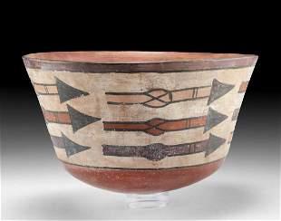 Nazca Polychrome Bowl w/ Arrows, ex-Museum