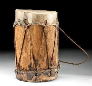 19th C. Native American Cochiti Wood & Hide Drum