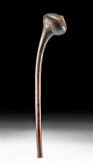 19th C. African Zulu Wooden Knobkerrie / Club