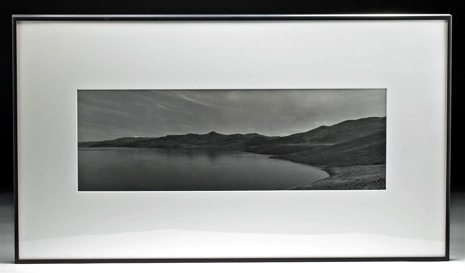 Signed B/W Photograph Lake Titicaca, M. Algaze