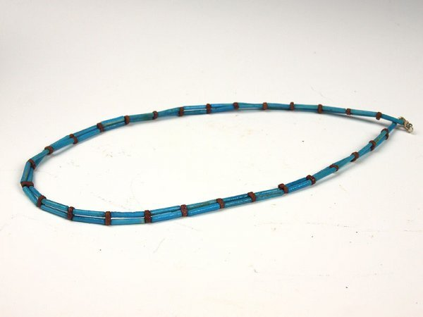 16: An Egyptian Faience Bead Necklace, 18th Dynasty