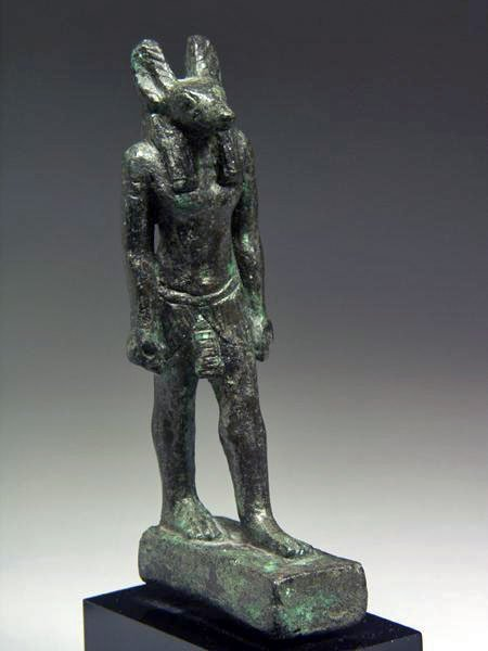17: An Egyptian Bronze Statuette of Anubis