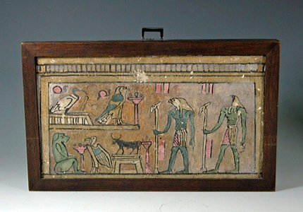 23: Egyptian Painted Wood Panel,  ex-Royal Athena