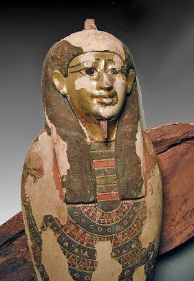 An Egyptian Large Gilt Ptah-Sokar-Osiris
