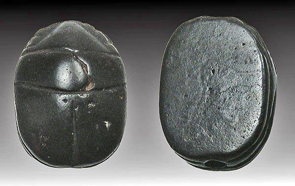 52: Egyptian Hematite Scarab - New Kingdom