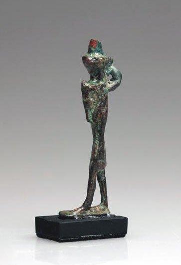 58: An Egyptian Bronze Nefertum Amulet