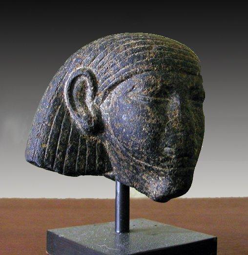 61: An Egyptian Granite Head - Middle Kingdom