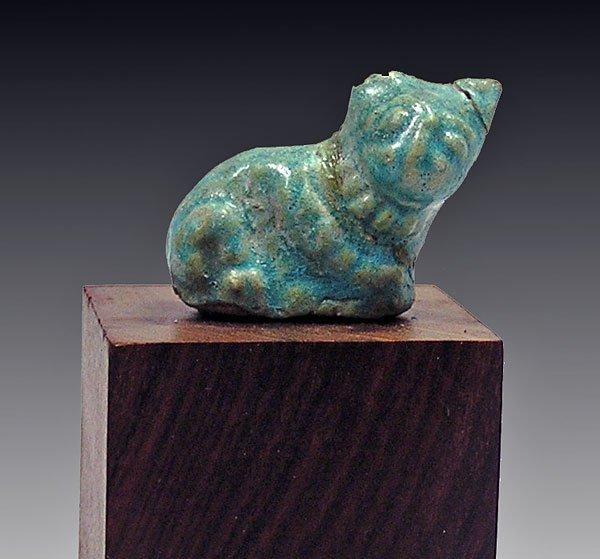 62: An Egyptian-Romano Period Faience Cat