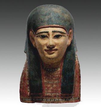 63: An Egyptian Cartonnage Mummy Mask