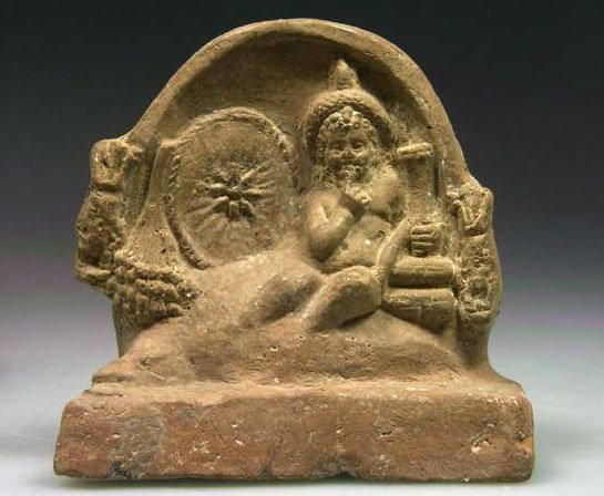 69: A Terracotta Relief Scene with Horus as a Child