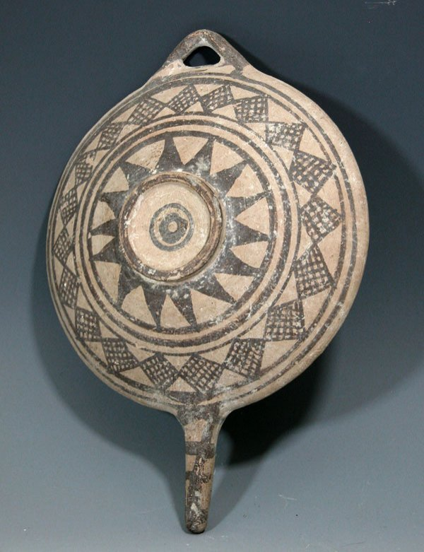 79:A  Cypriot Handled Serving Plate / Platter