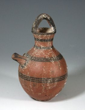 A Cypriot Red Painted Jar